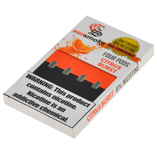 EonSmoke Pods for JUUL - Citrus Burst 6% - Juul Compatible Pods UK