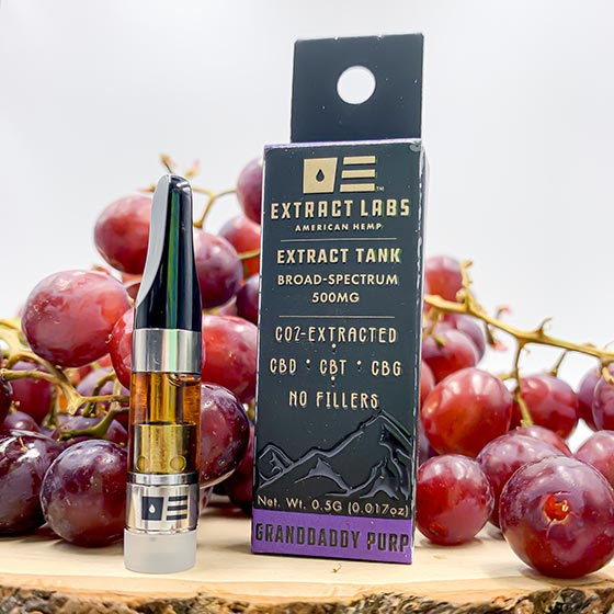 Granddaddy Purp Extract Tank Cartridge Vape Oil – Full Spectrum 1000mg