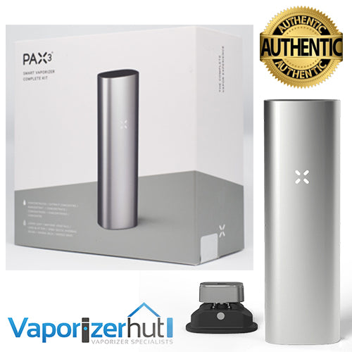 Pax 3 Vaporizer | Loose Leaf + Extract - Complete Kit - Matte Silver