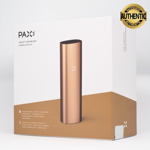 Pax 3 Vaporizer | Loose Leaf + Extract - Complete Kit - Matte Rose Gold