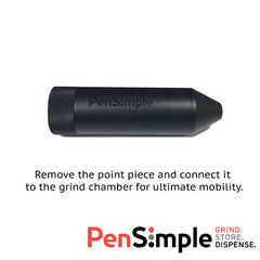 PenSimple Premium Herb Grinder & Storage with electronic herb dispenser.
