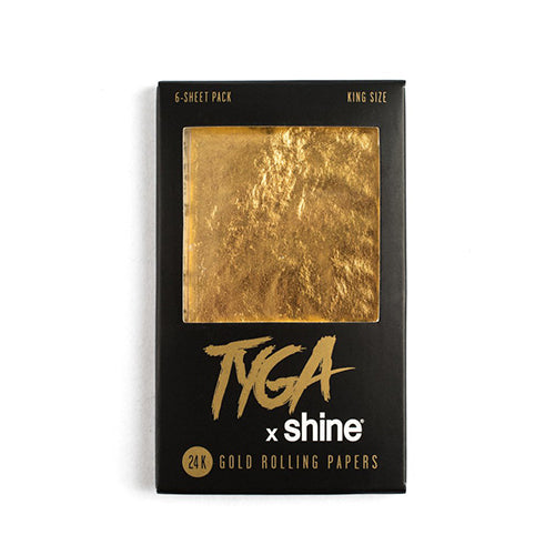 Tyga X Shine 24K Gold Papers - 6 Sheets - King Size