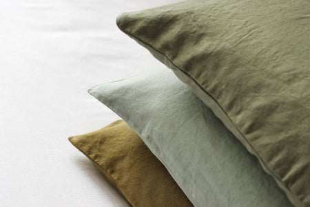 Stack of Linen Pillowcases
