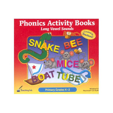 Phonics Activity Books - Long Vowel Sounds (Grades K-2)