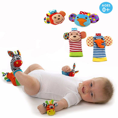 Infant Socks/Wrist Rattle Toy Sets