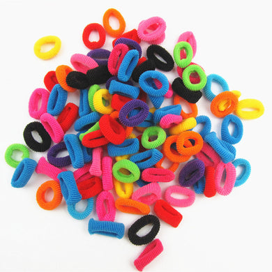 100/pcs colorful Rubber HairBands Hair Accessories