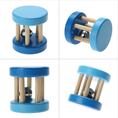 Wooden Toy Educational Wooden Toys Spiral Rattles for Babies