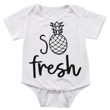 Newborn Infant Baby Boy Girl Kids Fresh Pineapple Cotton Jumpsuit Bodysuit Clothes Outfit