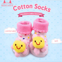 Cotton Baby Socks For Newborns Gift Animal Lot Anti Slip With Rubber Soles