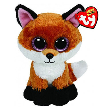Ty Beanie Boos 6-Inch Slick Brown Fox  Plush Stuffed Doll