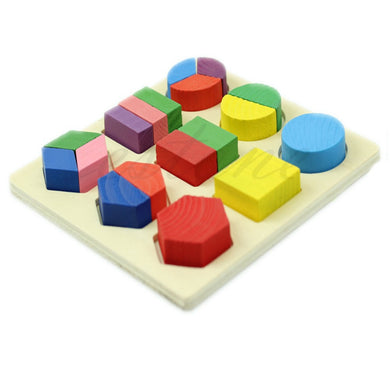 Wooden  Early Educational Toy Geometry Puzzle