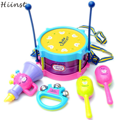 HIINST   5pcs Kids Baby Roll Drum  Toy