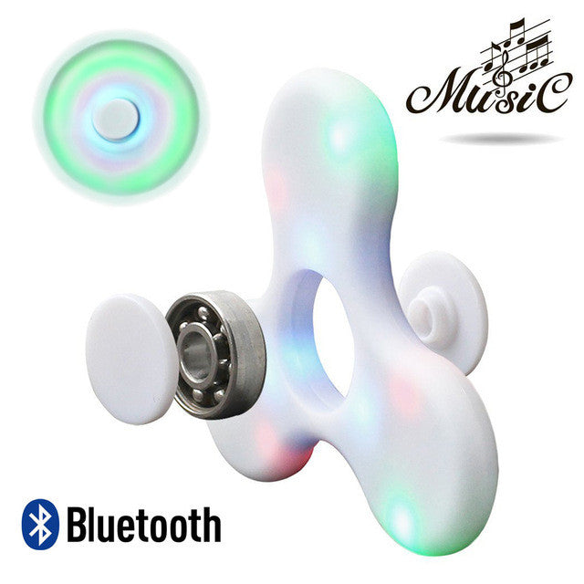 Fidget Spinner with Built in LED Bluetooth Speaker Hand Spinner