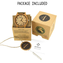 BEWELL wood watch Unisex