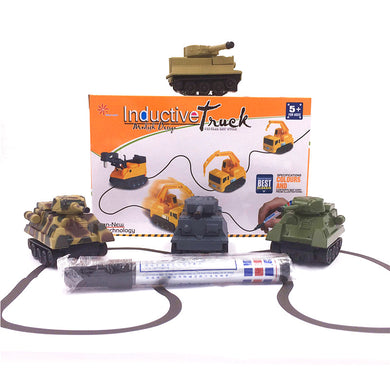 1 Piece Magic Toy Tank Inductive Car Magic Excavator Construction Cars Truck