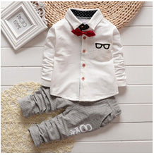 Baby Boy Clothing Sets  Bow tie T-shirts glasses top pants 2pcs autumn sets