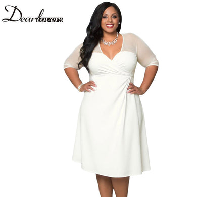 V Neck Half Sleeve Sugar and Spice Plus Size Dress for Teens