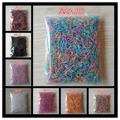 About 1000pcs/bag (small package) Hair Holders Rubber Bands
