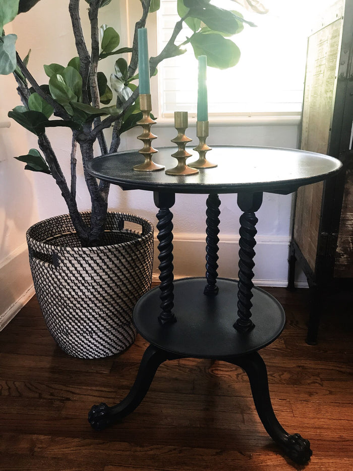 Blue Midnight Spindle Side Table