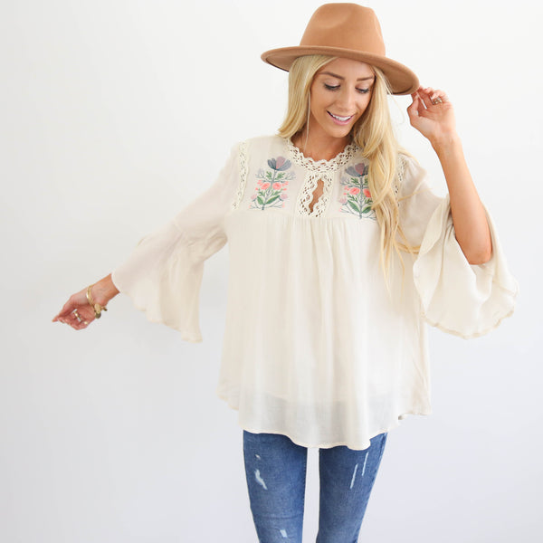 Morgan Embroidered Top