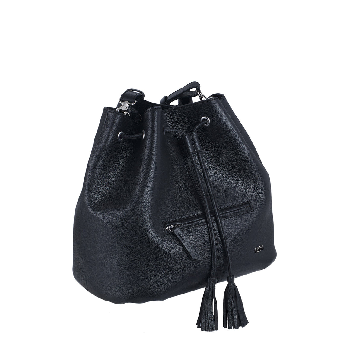 BP 0002 - TOHL MONTAUK WOMEN'S DRAWCORD BUCKET BAG - CHARCOAL BLACK