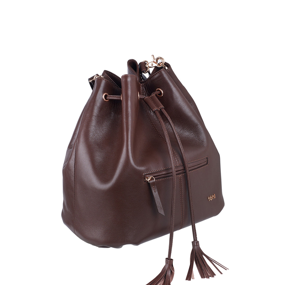 BP 0002 - TOHL MONTAUK WOMEN'S DRAWCORD BUCKET BAG - CHOCO
