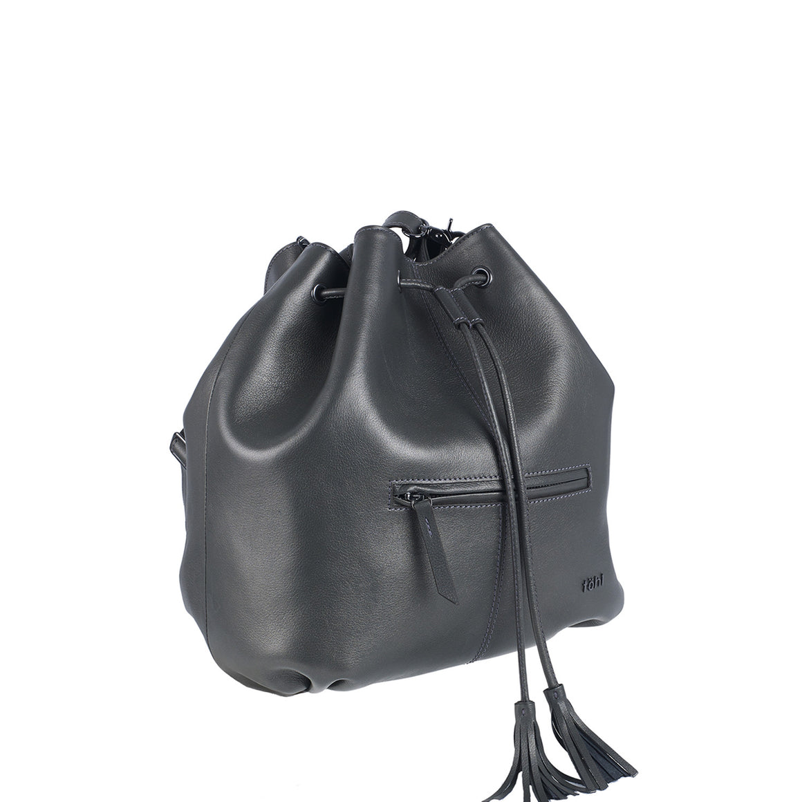 BP 0002 - TOHL MONTAUK WOMEN'S DRAWCORD BUCKET BAG - METALLIC SMOKE