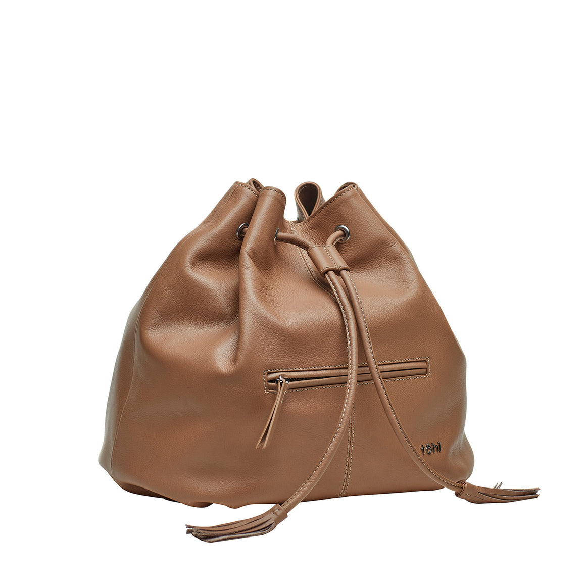 BP 0002 - TOHL MONTAUK WOMEN'S DRAWCORD BUCKET BAG - NUDE