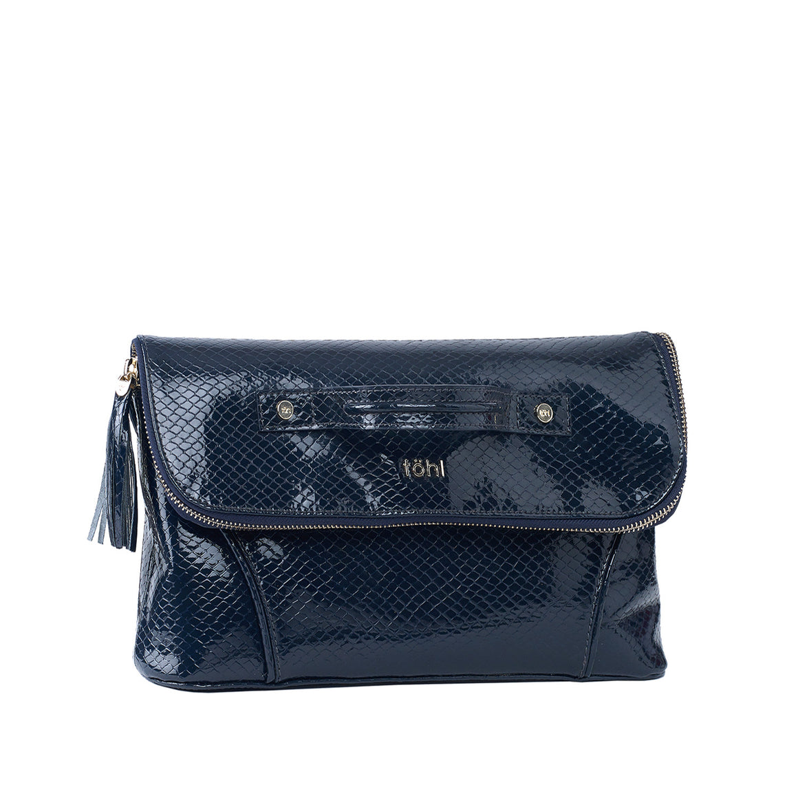 CH 0001 - TOHL TARA WOMEN'S TASSELED CLUTCH - ANGOLA NAVY