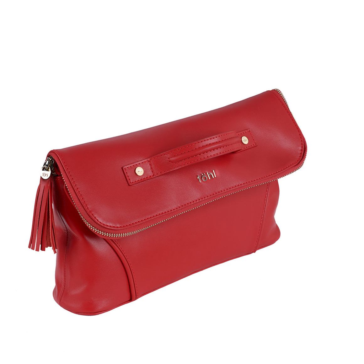 CH 0001 - TOHL TARA WOMEN'S TASSELED CLUTCH - SPICE RED
