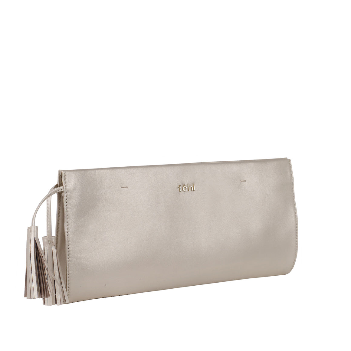 CH 0005 - TOHL DEMI WOMEN'S TASSELLED GRIP CLUTCH - CHAMPAGNE PEARL