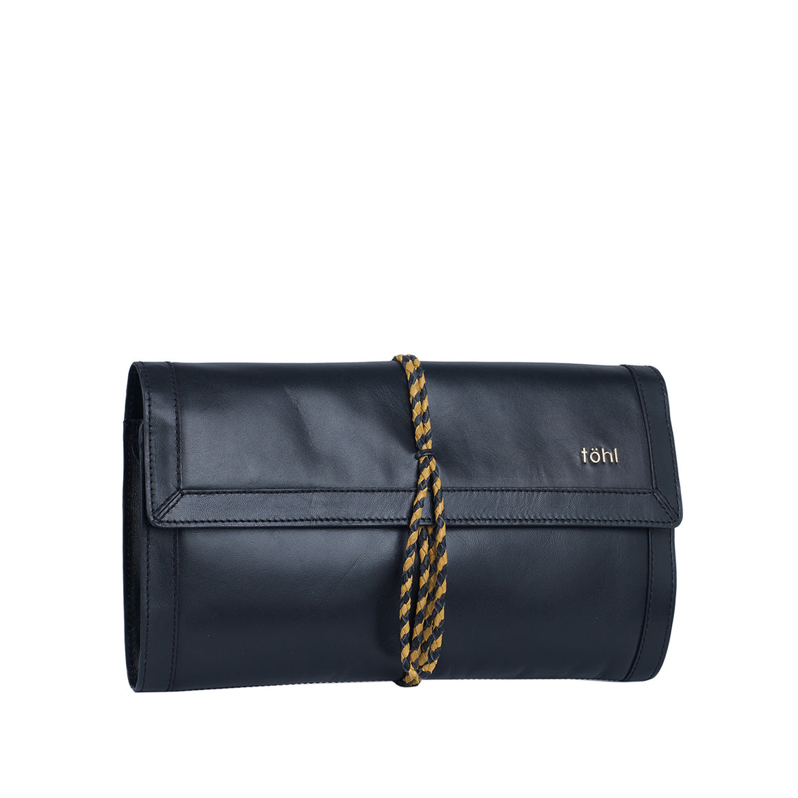 CH 0006 - TOHL CAMILLE WOMEN'S ROLLUP CLUTCH - CHARCOAL BLACK