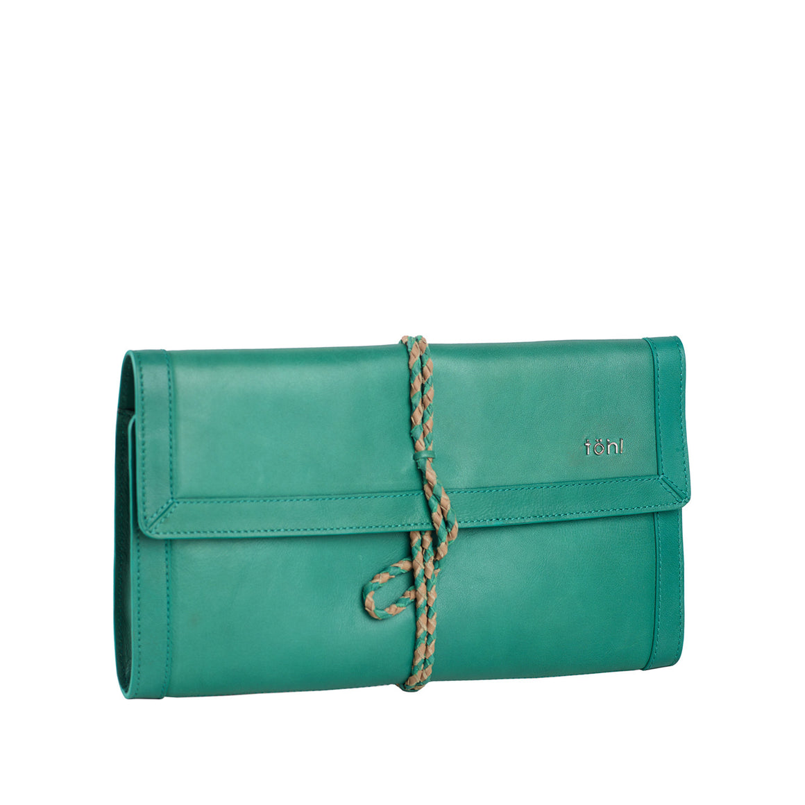 CH 0006 - TOHL CAMILLE WOMEN'S ROLLUP CLUTCH - TURKIS