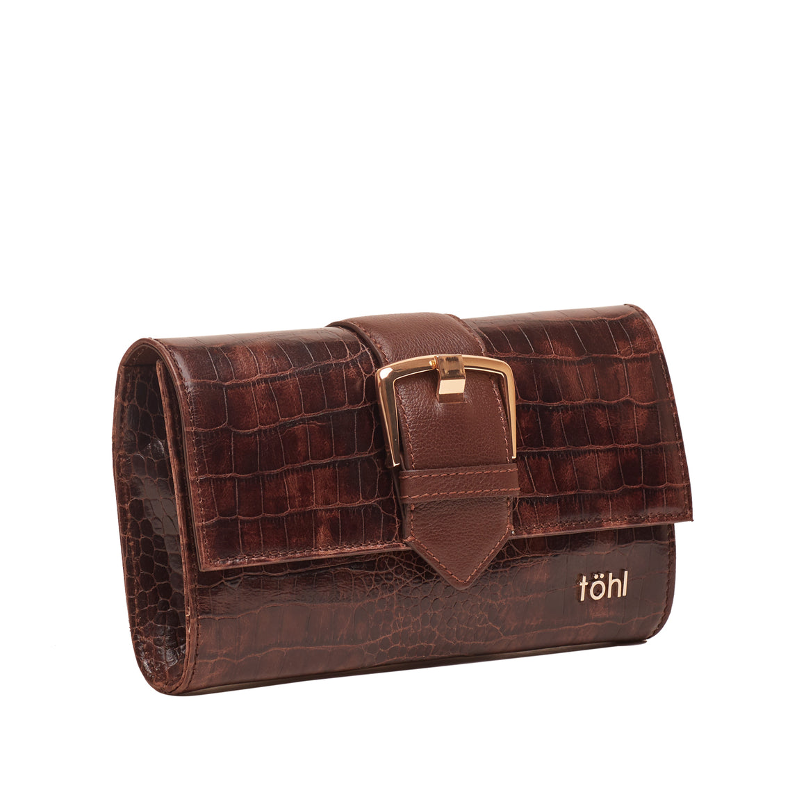 CH 0009 - TOHL TIPPI WOMEN'S CLUTCH - CROCODILLO KAHVE