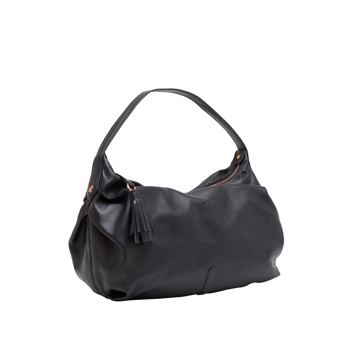 HH 0001 - TOHL TINSLEY WOMEN'S SHOULDER  BAGUETTE - CHARCOAL BLACK