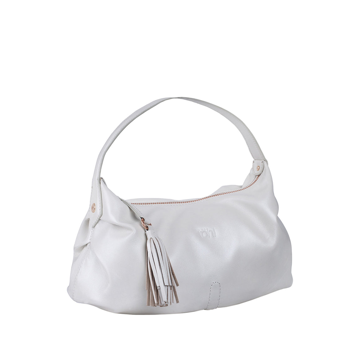 HH 0002 - TOHL MARISA WOMEN'S SHOULDER BAGUETTE - PEARL WEISS