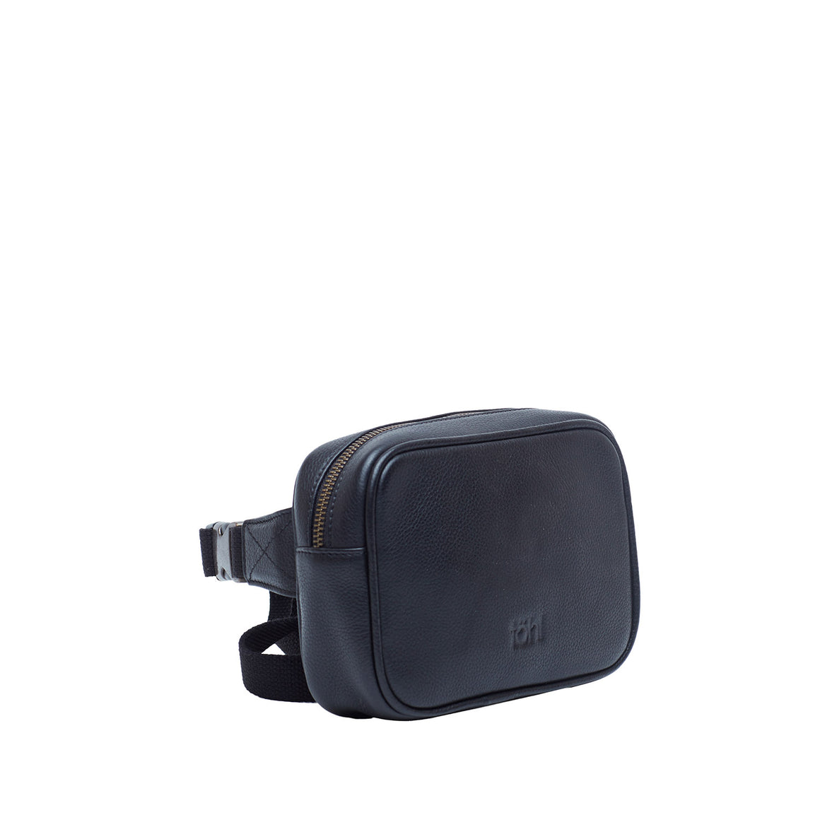 WP 0003 - ABEL MEN'S WAIST POUCHES - CHARCOAL BLACK