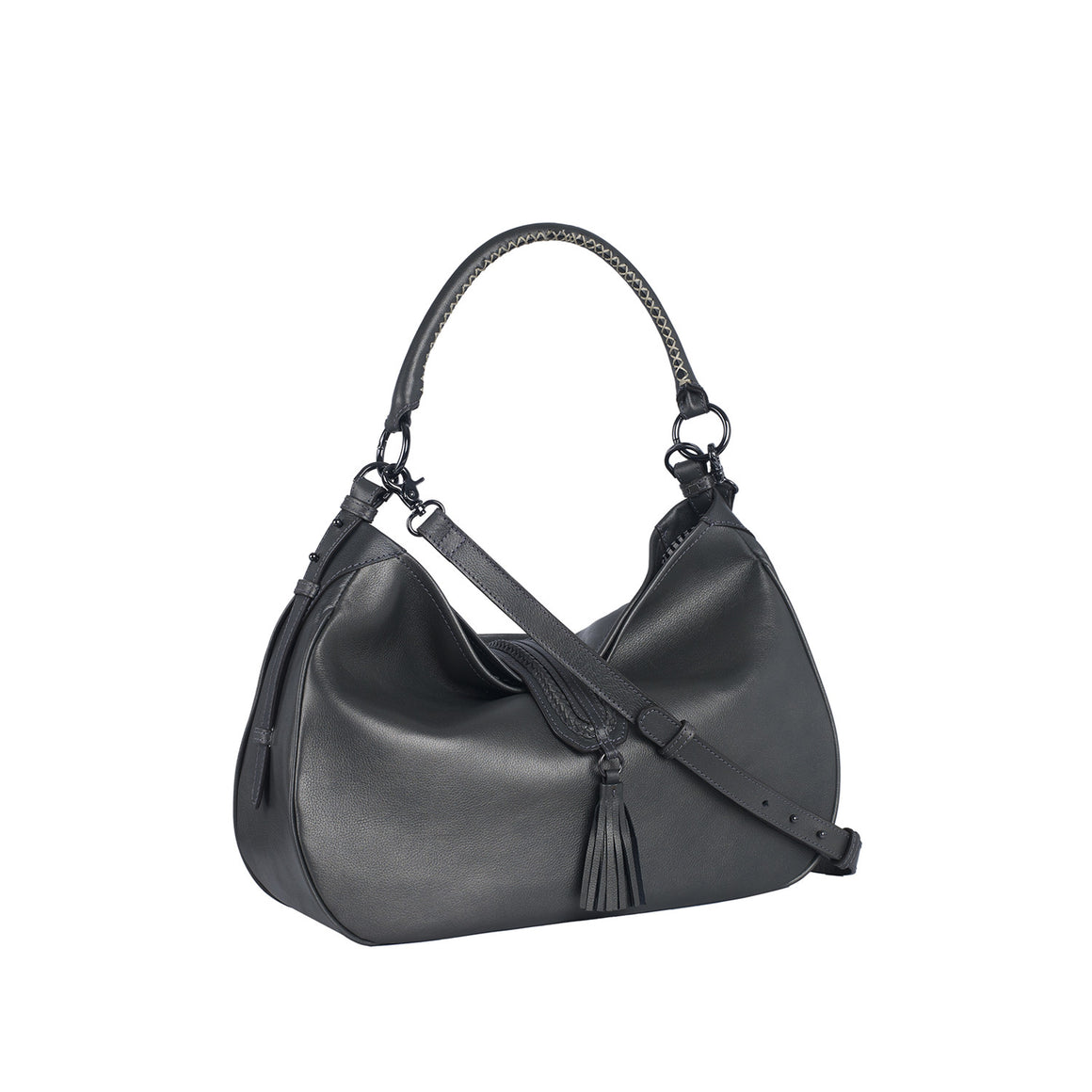 SB 0003 - TOHL EDIE WOMEN'S SHOULDER BAG -  METALLIC SMOKE