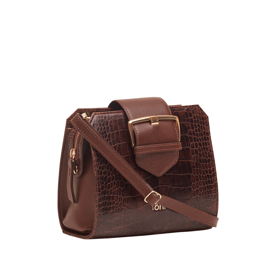 SG 0012 - TOHL MIA WOMEN'S SLING BAG - CROCODILLO KAHVE