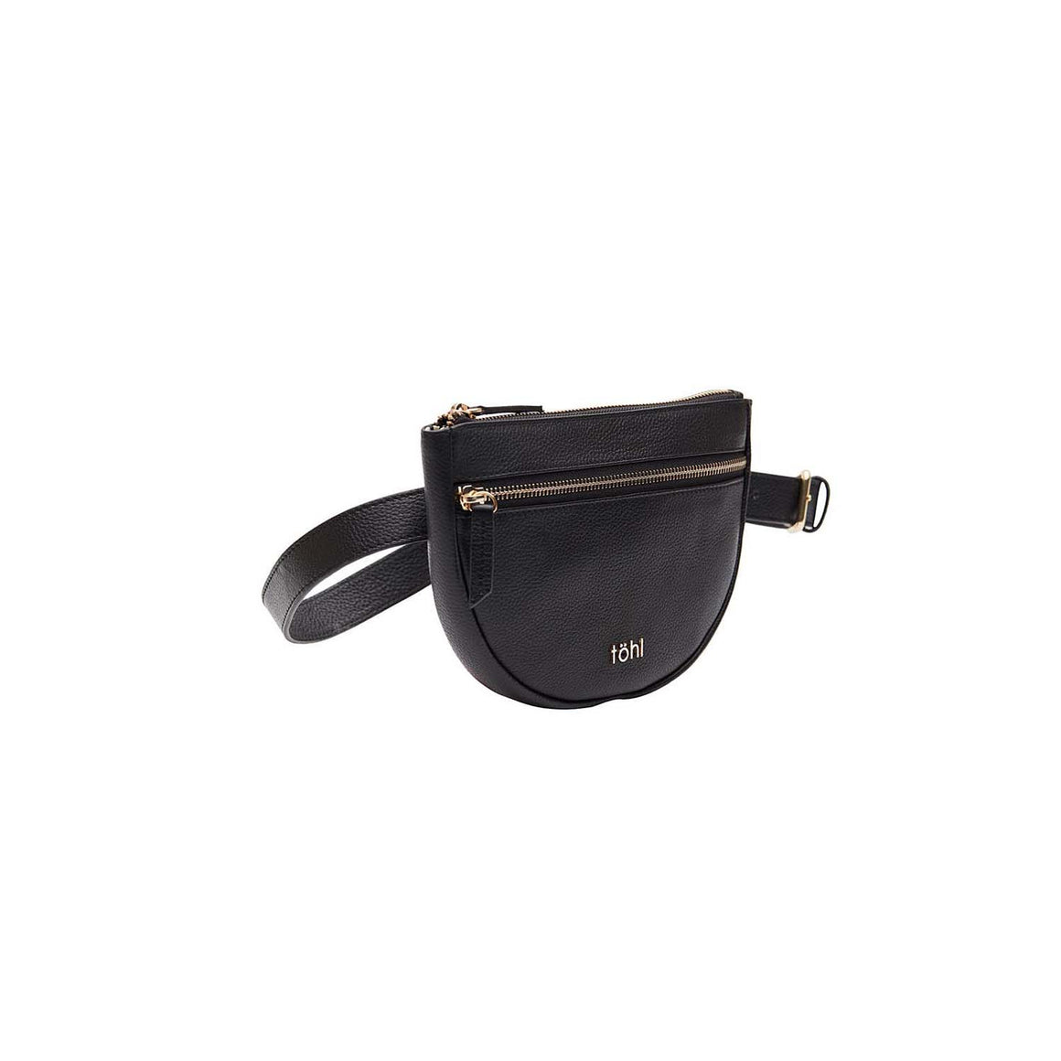 WP 0001 - TOHL RISELY WOMEN'S WAIST POUCH - CHARCOAL BLACK