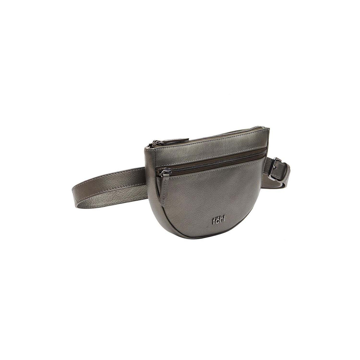 WP 0001 - TOHL RISELY WOMEN'S WAIST POUCH - METALLIC SMOKE