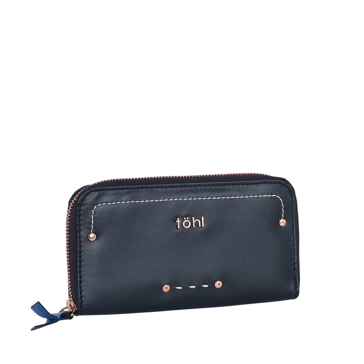 WT 0001 - TOHL YARA WOMEN'S ZIP WALLET - CHARCOAL BLACK