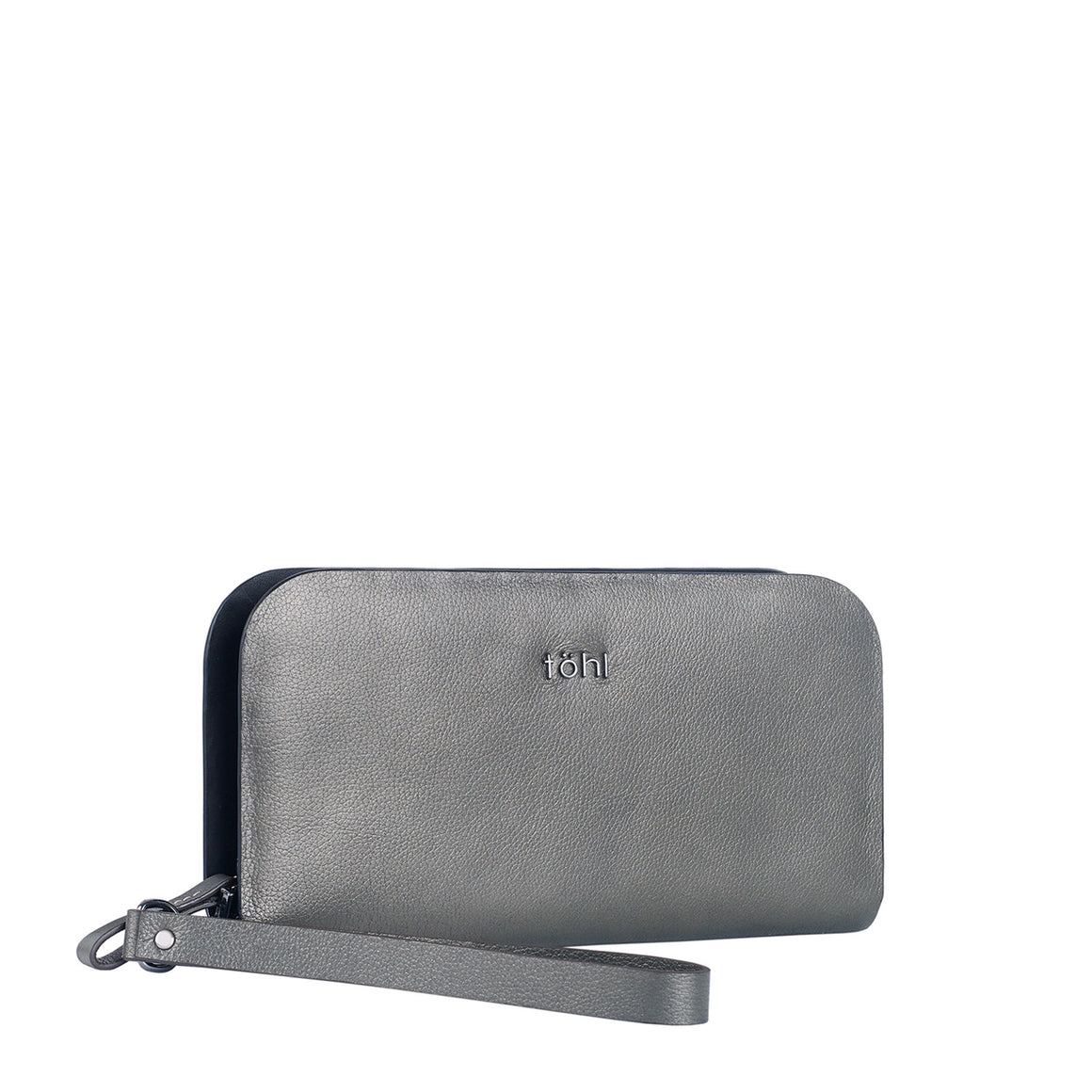 WT 0002 - TOHL DELANCEY WOMEN'S CLUTCH WALLET - METALLIC SMOKE