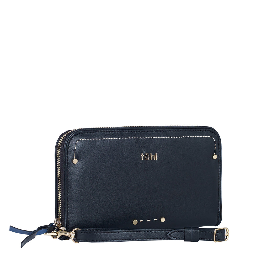 WT 0005 - TOHL TINI WOMEN'S ZIP WALLET - CHARCOAL BLACK