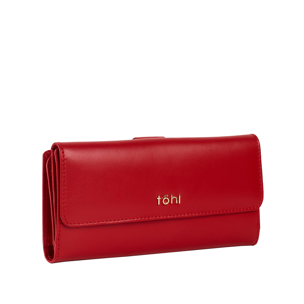 WT 0010 - TOHL LUDLOW WOMEN'S FLAPOVER WALLET - SPICE RED