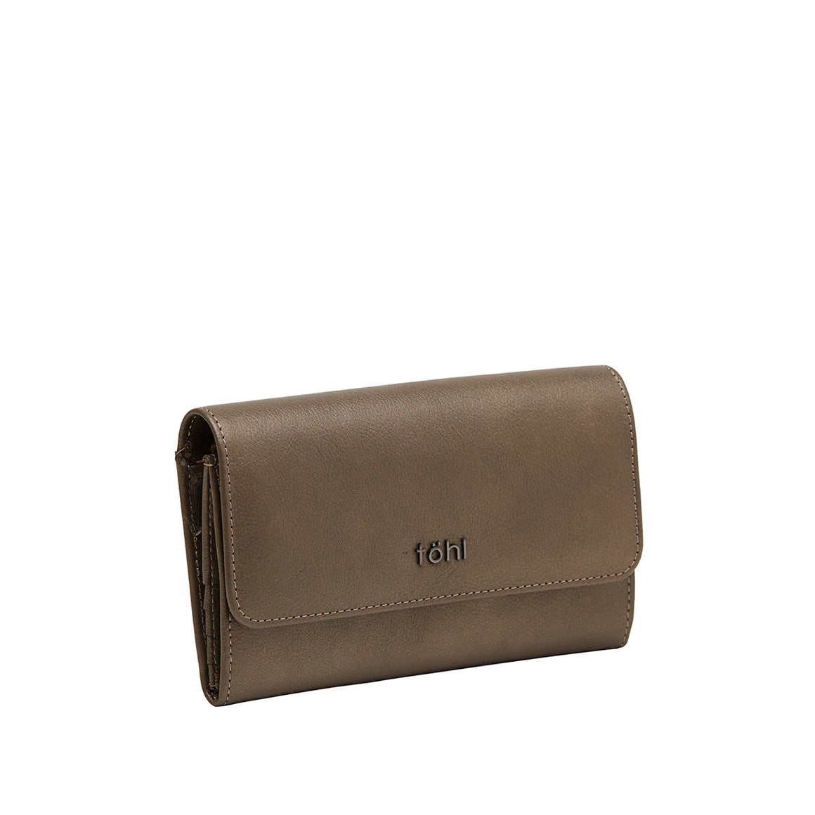WT 0011 - TOHL ALLEN WOMEN'S FLAPOVER WALLET - METALLIC COPPER