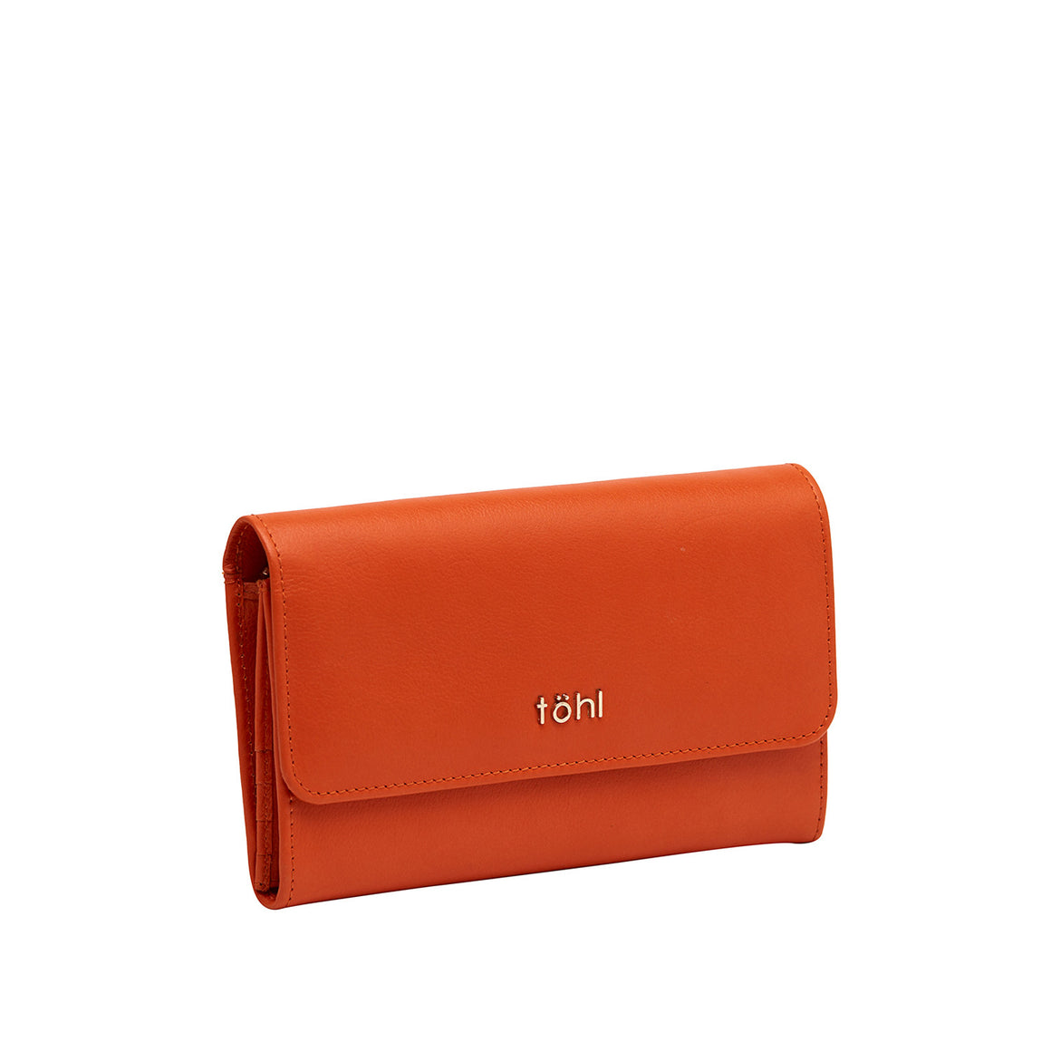 WT 0011 - TOHL ALLEN WOMEN'S FLAPOVER WALLET - ORANGE MELON