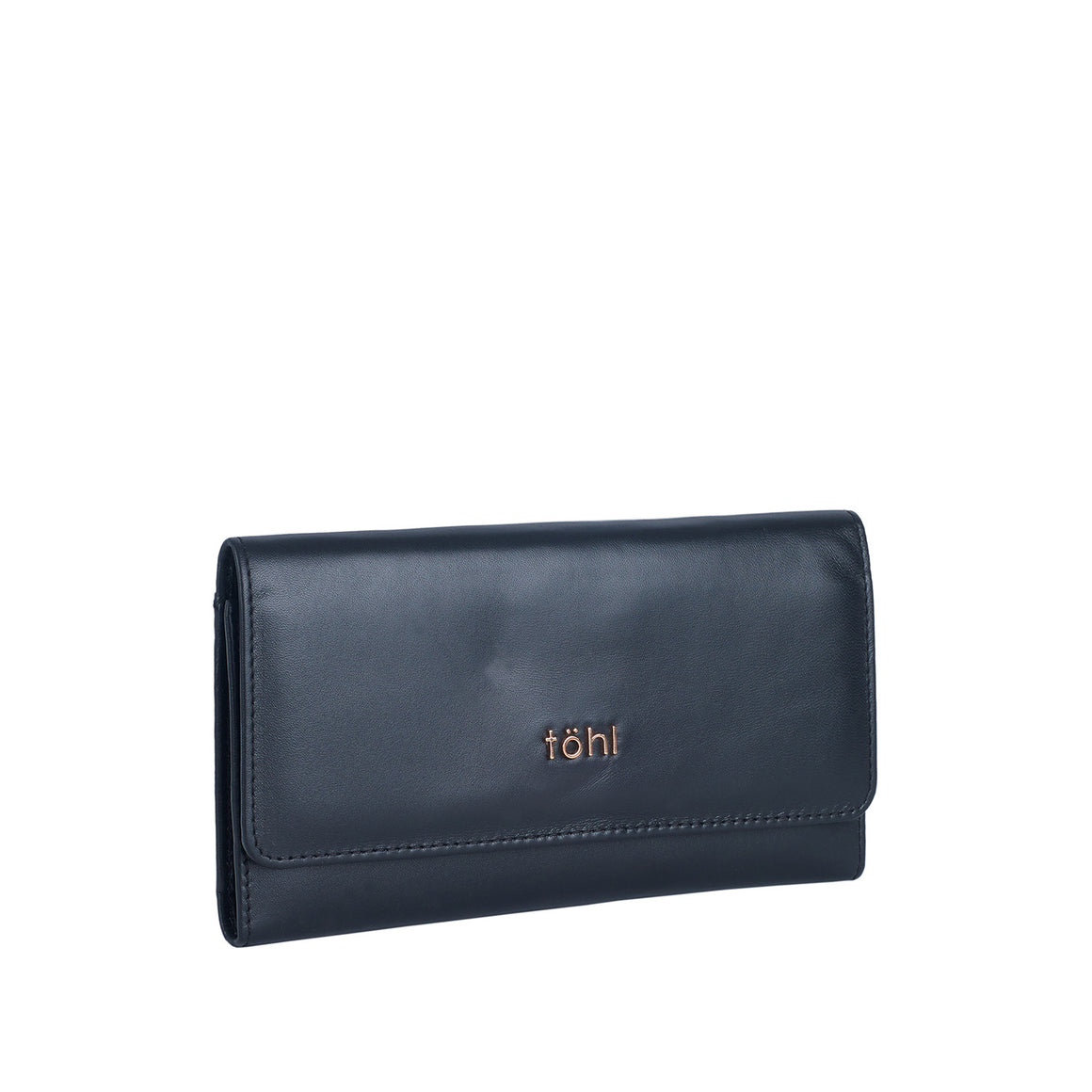 WT 0012 - TOHL BOBBI WOMEN'S FLAPOVER WALLET - CHARCOAL BLACK
