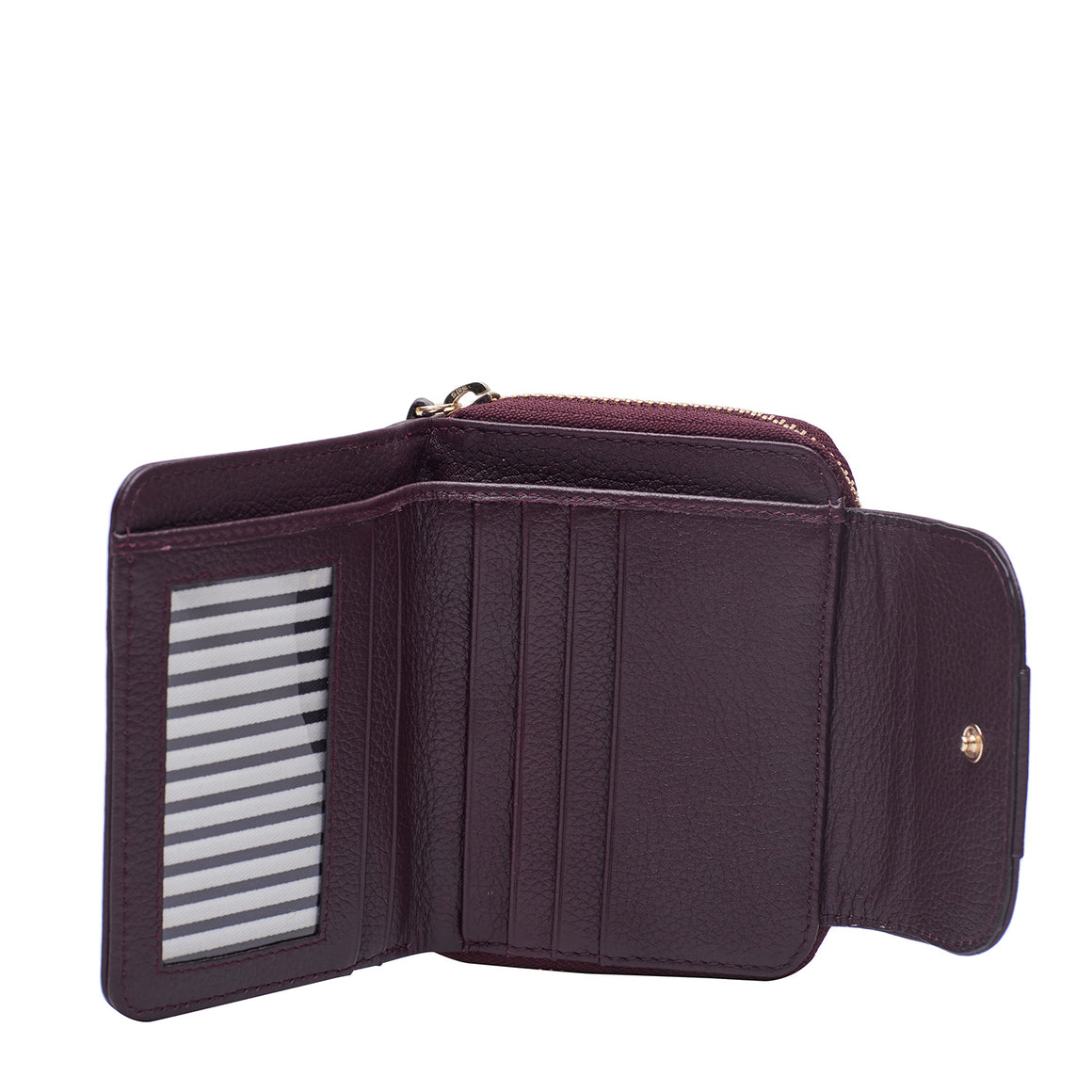 WT 0020 - TOHL FINSBURY MINI WOMEN'S  WALLET - PLUM