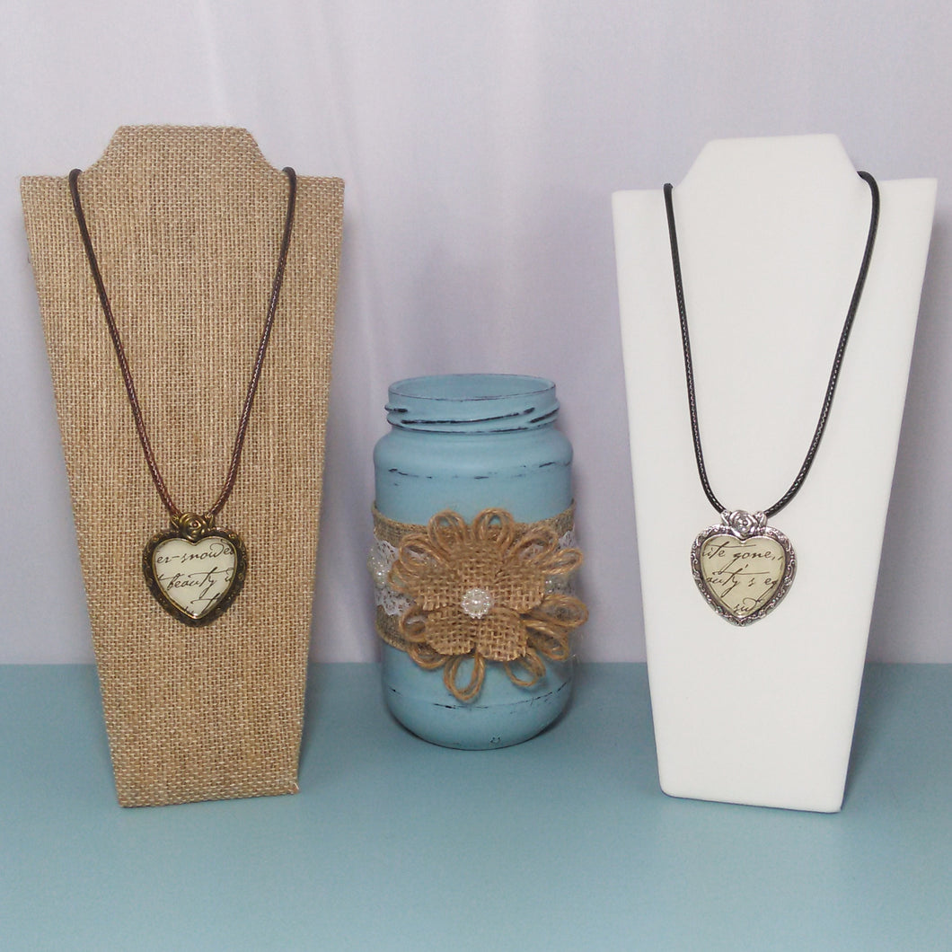 Words From The Heart Pendant Necklaces - Vintage Inspired Life